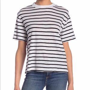 Black & White Stripe Crew Neck T-shirt